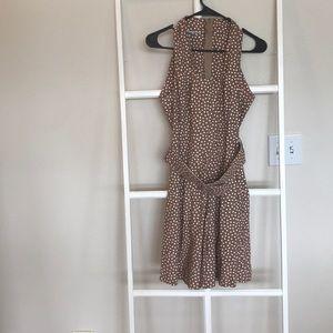 Pants - Vintage polka dot belted romper size 6